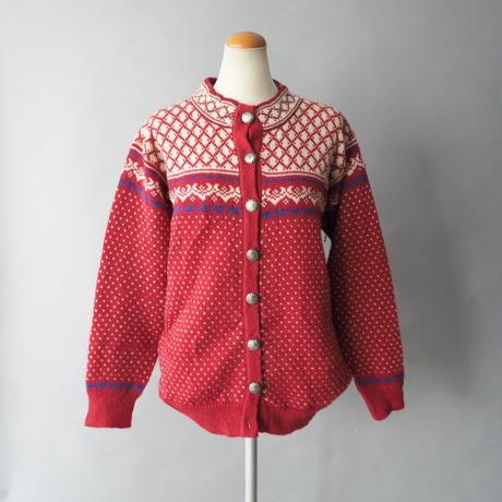 Tyrolean birds eye knit cardigan/ladies'