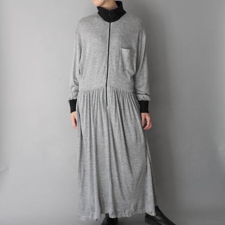 vintage west Germany sweat zip-up dress