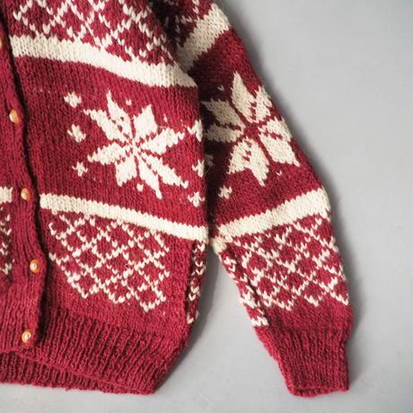 cowichan knit cardigan/unisex