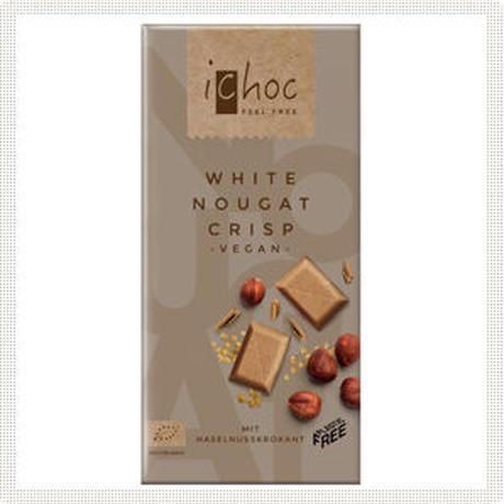 iChocオーガニックチョコレート ホワイトヌガークリスプ