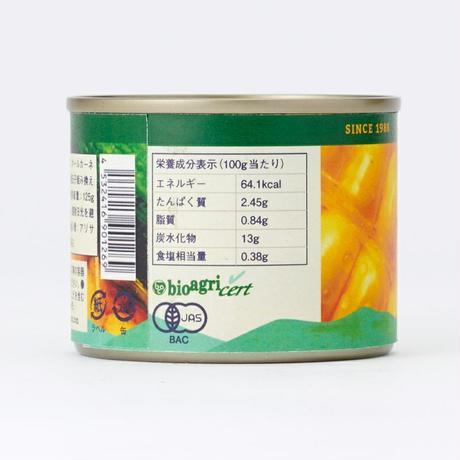 有機スイートコーン缶スモール 125g