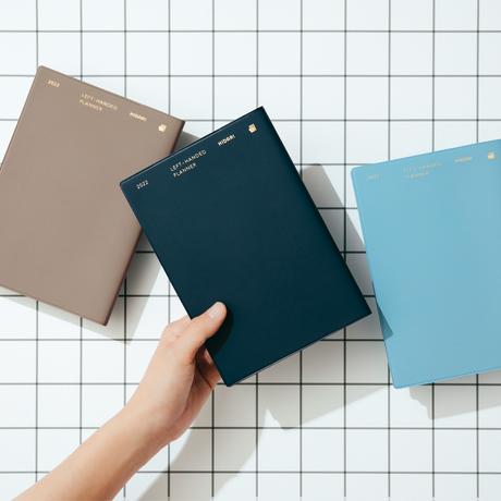 左ききの手帳2022【ライトブルー】