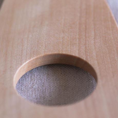 オノオレカンバ材 木製ターナー【穴あり】・左手用(左利き用)