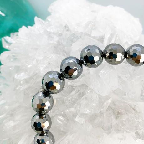 美sha˚✧₊高純度テラヘルツ鉱石 ブレス「ラウンドカット10mm玉」肩凝りにオススメ‼︎