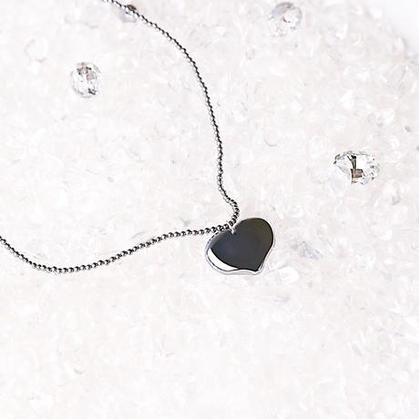 ❤︎love❤︎高純度テラヘルツ鉱石 シンプルなハートネックレス