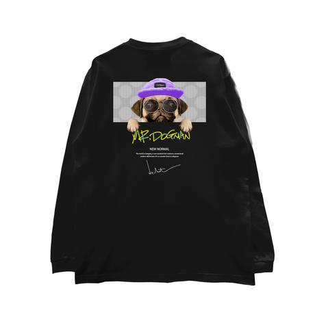 HIGH GRADE LONG SLEEVE T-SHIRTS「mr.dogman」WHITE/M/L/XL