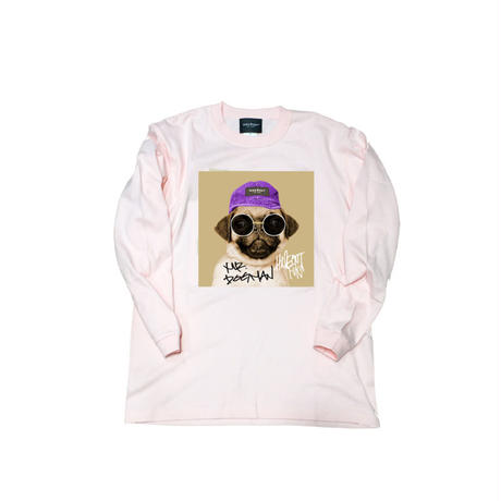 ロンT「mr.dogman」PINK/M/L/XL