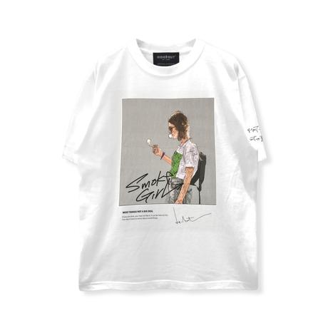 HIGH GRADE T-SHIRTS「SMOKE GIRL」WHITE/M/L/XL