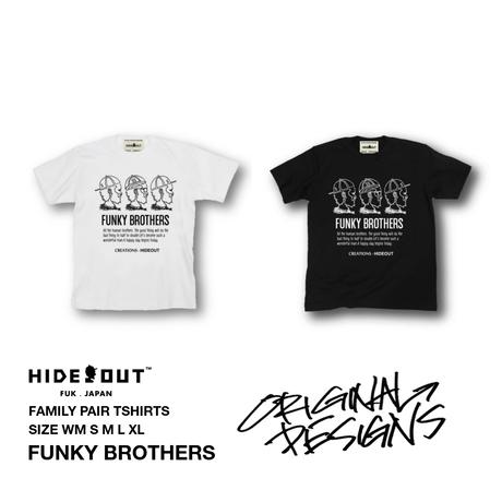 「FUNKY BROTHERS」Tシャツ/UNISEX/WM/S/M/L/XL
