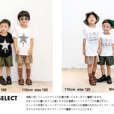 「STAR」Tシャツ/KIDS/90/100/120/140