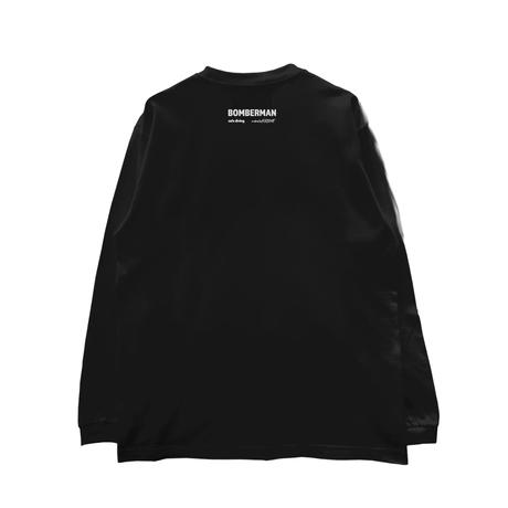 ロンT「cafe dining BOMBERMAN -1man」BLACK/M/L/XL