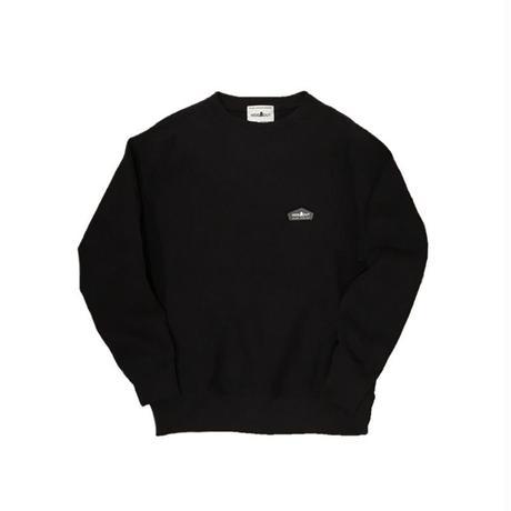 スウェットシャツLOGOワッペン BLACK/L/XL