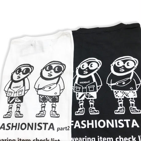 HIGH GRADE T-SHIRTS「FASHIONISTA-part2」Tシャツ/WHITE/UNISEX/M/L/XL