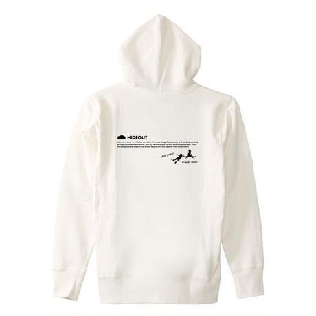 ヘビーオンスパーカー「SKATE-BOYS」 WHITE/L/XL