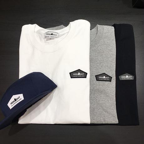 サイドパネルワッペン1ポイントTシャツ white / grey / black / m / l / xl
