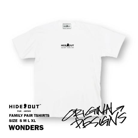 「WONDERS」Tシャツ/UNISEX/WHITE/BLACK/S/M/L/XL