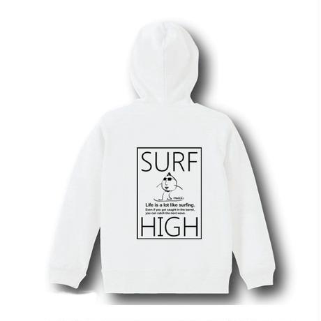 スウェットパーカー「SURF HIGH」 white/110/130