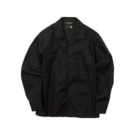オープンカラービッグアウターシャツ BLACK/FREE