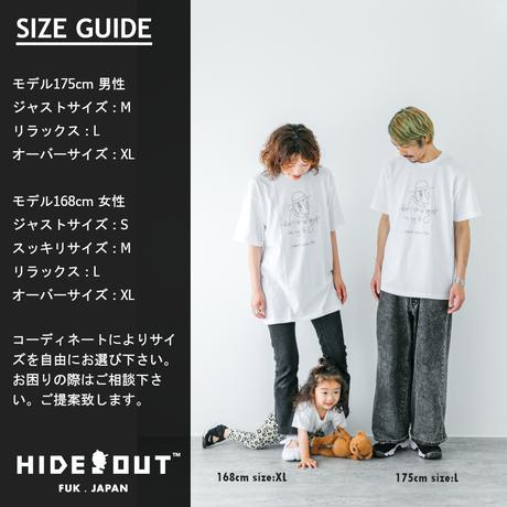 「HAT」Tシャツ/UNISEX/WHITE/BLACK/S/M/L/XL