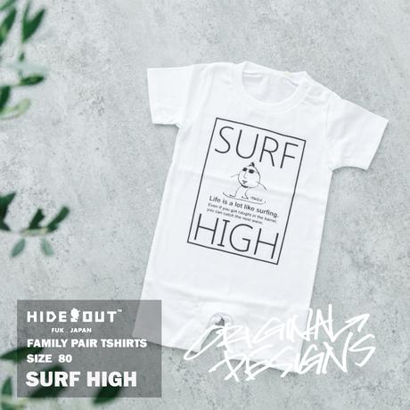 「SURF HIGH」ロンパース/BABY/WHITE/BLACK/80