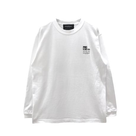 5TH ANNIVERSARY DESIGN T-SHIRTS L/S  WHITE/M/L/XL