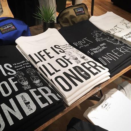 1ポケバックプリント「wonders」black / s / m / l / xl