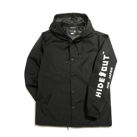 ナイロンフードブルゾン  BLACK/S/M/L