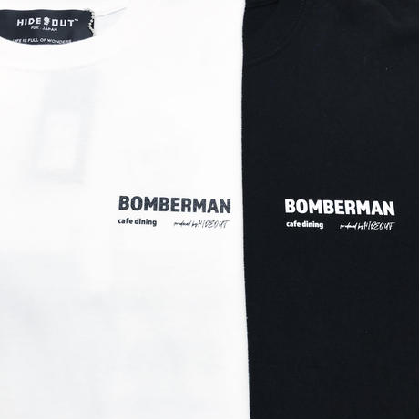 ロンT「cafe dining BOMBERMAN -3men」WHITE/M/L/XL