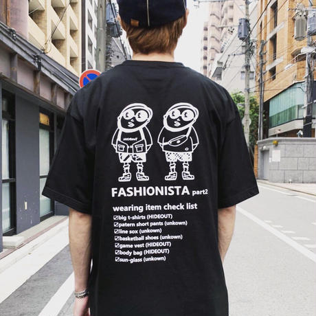 HIGH GRADE T-SHIRTS「FASHIONISTA-part2」Tシャツ/BLACK/UNISEX/M/L/XL