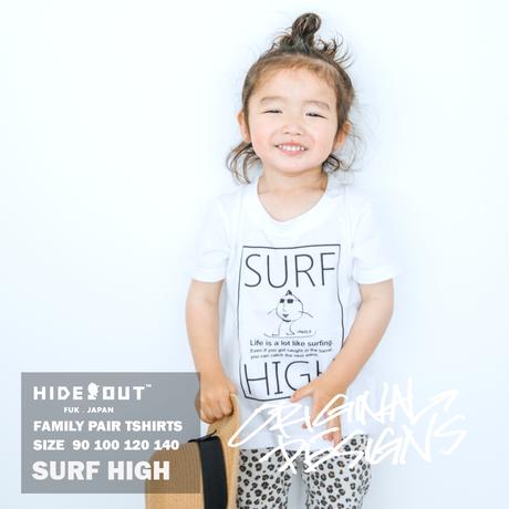 「SURF HIGH」Tシャツ/KIDS/WHITE/BLACK/90/100/120/140