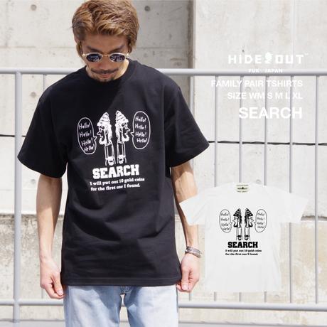 「SEARCH」Tシャツ/UNISEX/WM/S/M/L/XL