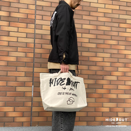 HEAVY ONZ BIG TOTE BAG「LOGO」IVORY