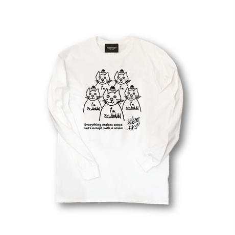 ロンT「scatman」WHITE/M/L/XL