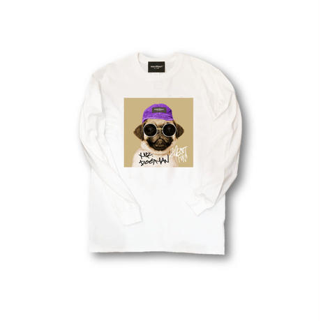 ロンT「mr.dogman」WHITE/M/L/XL