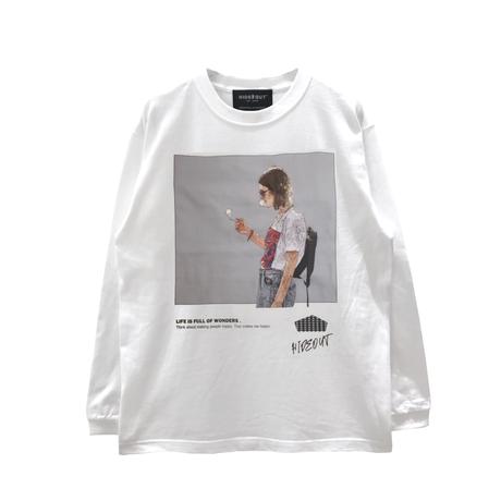 ロンT「SMOKE GIRL」WHITE/M/L/XL