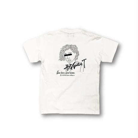1P × バックプリント「WOMAN」Tシャツ/WHITE/UNISEX/S/M/L/XL