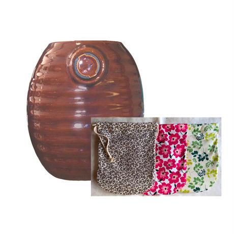 【カバー新柄さらに入荷!】陶器製湯たんぽ&カバー(アソート)セット