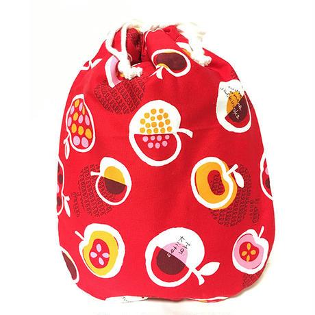 陶器製湯たんぽカバー単品「赤い林檎と果物柄」