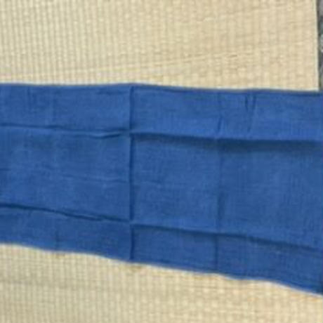 コンパクトにたためる正藍染の二重ガーゼロングタオル