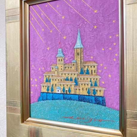 「希望の星へ」テンペラ画