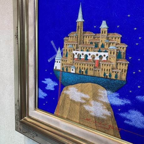 「風の街へ」テンペラ画