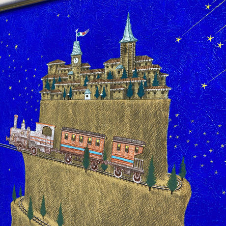 「旅のはじまり」テンペラ画