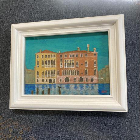「ヴェネチアのシエスタ」板絵テンペラ画