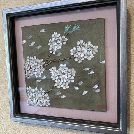 「桜の想い」板絵テンペラ画