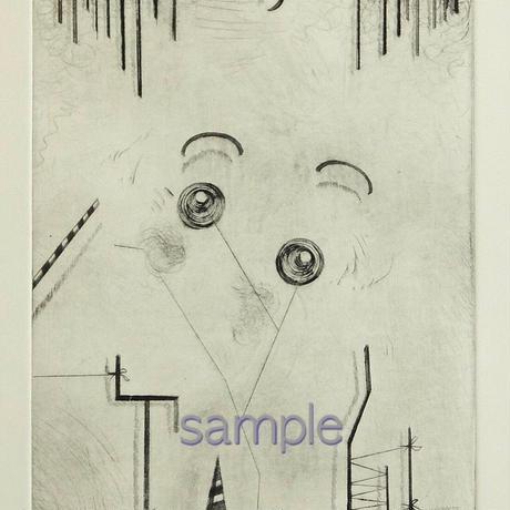 版画作品「a self-portrait」+フレームセット