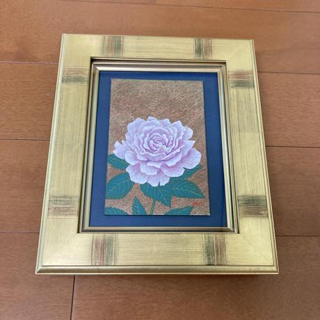 「Pink Rose」板絵テンペラ画
