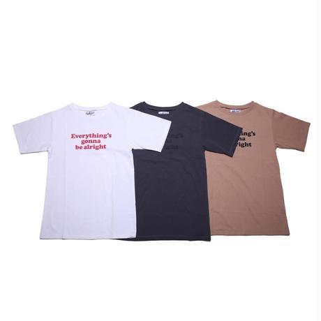 loose short sleeve / brown (ladies' M)