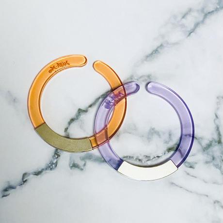 Circle Earcuff (Orange×Purple)