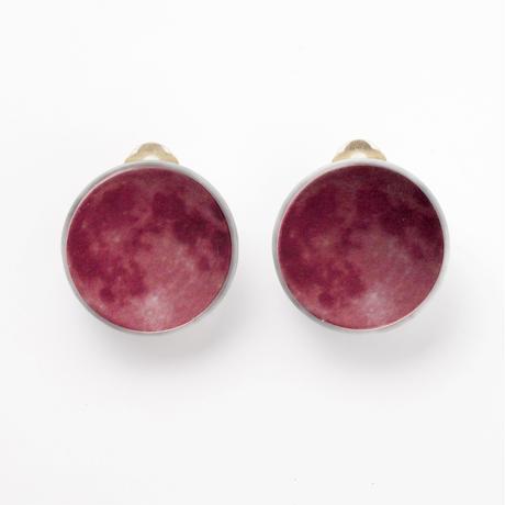 Full Moon Earring (Red)