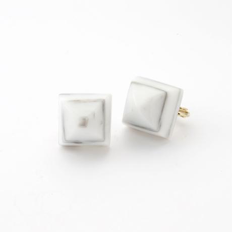Pyramid Earring(Marble Gray)